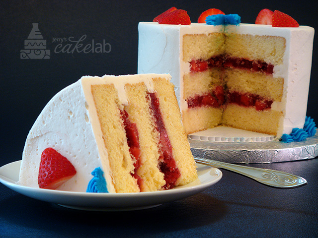 Yellow Cake With Strawberry Banana Filling