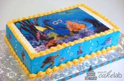 Fish and Coral Second Birthday Cake, Vanilla Buttercream Icing