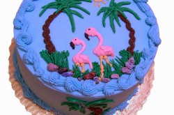 Buttercream Flamingoes, Vanilla Buttercream Icing