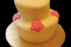 Topsy Turvy Cake, Rolled Fondant Icing