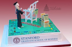 Fwon-opoly Graduation, Stanford Business School, Oakland Crane in Chocolate