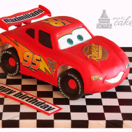 Cars Lightning McQueen Scultped Cake