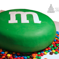 M&M Sculpted Cake